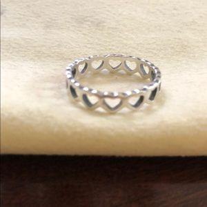James Avery Tiny Hearts Ring Size 6.5